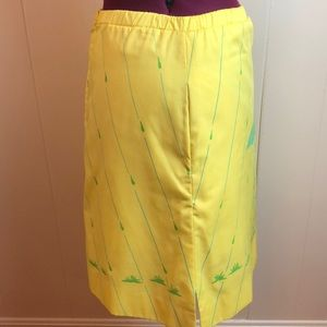 Vintage Skirts - Vintage 70s/80s Yellow Green A Line Golf Skirt